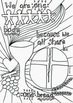 Flame: Creative Children's Ministry: Holy Communion Reflective Colouring Sheet