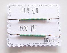 Freundschaftsbänder - Freundschaftsbänder For you & For me - ein Designerstück von MIO-O bei DaWanda