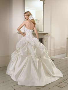 2e4494c1f6 65008 Dita Wedding Dress (Back) – Ronald Joyce 2011 Collection Cinderella  Wedding