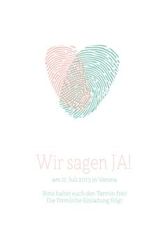 "Save the Date Karte #4 - ""fingerprint"""