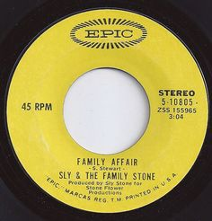 #1 on Billboard / Family Affair / Sly & the Family Stone