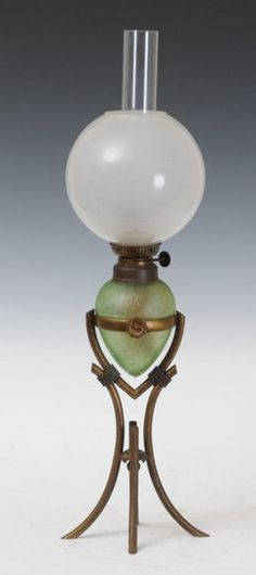 French Aesthetic Movement Oil Lamp