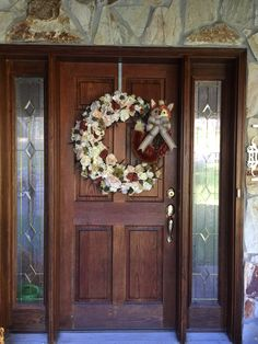 Fall front door wreath made for my daughter-in-law. Autumn Wreaths For Front Door, Door Wreaths, How To Make Wreaths, To My Daughter, Law, Flowers, Gifts, Home Decor, Presents