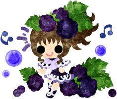 フリーのイラスト素材ブラックベリーのドレスを着た少女のイラスト  Free Illustration The illustration of the girl in the blackberry dress   http://ift.tt/2lpmlWj