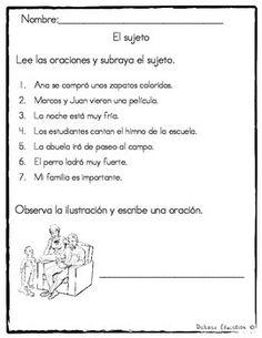 Sujeto y Predicado   Subject or Predicate in Spanish