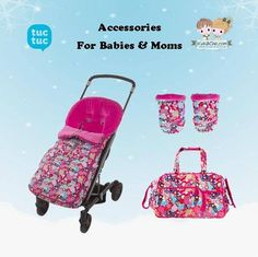 Trendy #accessories for #moms from #TucTuc.  Shop now at: www.kidsandchic.com/brands/tuc-tuc-accessories  #baby #babygift #shoppingbarcelona #bebe #regalobebe #niña #babygirl #babyshowergift #footmuff #handmuffs #babybag #stroller