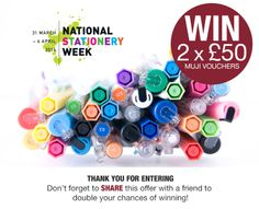 WIN 2 x £50 MUJI vouchers! One for you and one for a friend!