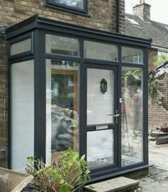 Noble shared porch design architecture See how your business benefits Porch Flat Roof, Front Door Porch, Front Porch Design, Porch Entrance, Extension Veranda, Porch Extension, Glass Extension, House With Porch, House Front