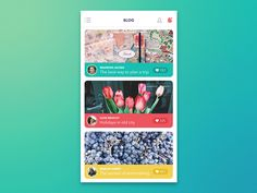 Dribbble - GIF for Blog App by Tubik Studio