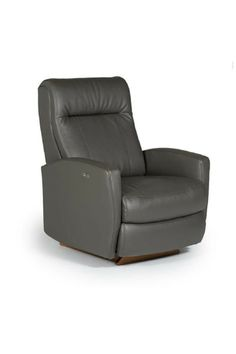The small scale of this piece makes it a perfect fit for a tight corner or smaller room, and you can easily customize the leather color to match with your existing decor. Sleek, minimal shapes make up this contemporary recliner, including rounded track arms and a tall-standing back cushion.