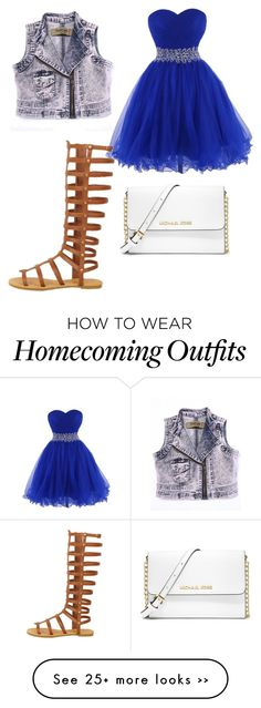 """Untitled #22"" by sionifrazier14 on Polyvore -  That dress!!! Everything else is so ugly and can go die in a fire, but that blue dress so beautiful!!!"