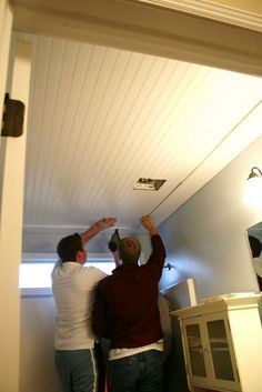 The House of Smiths - Home DIY Blog Beadboard ceiling tutorial