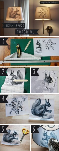 DIY [IKEA HACK] how to transfer a picture on JÄRA lamp shade