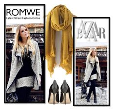 """ROMWE"" by eemiinaa ❤ liked on Polyvore featuring Jimmy Choo, women's clothing, women's fashion, women, female, woman, misses and juniors"