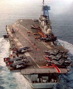 (62) Tumblr Royal Navy Aircraft Carriers, Navy Carriers, Fighter Aircraft, Fighter Jets, British Aircraft Carrier, Cruisers, Hms Ark Royal, Capital Ship, Landing Craft
