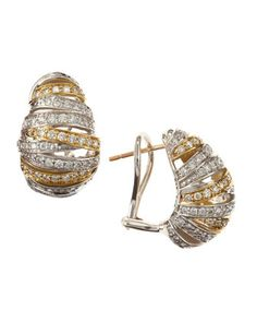 Diamond+Oval+Earrings+by+Lagos+at+Last+Call+by+Neiman+Marcus.