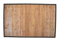 Light Wood Ginsey Natural Bamboo Step Mat