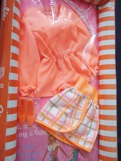 Mod Barbie Tangerine Scene 1451 1970 WOW | eBay Barbie I, Barbie Dress, Vintage Barbie Clothes, Doll Clothes, Mod Fashion, Fashion Dolls, Carnaby Street, Mod Mod, Childhood Memories