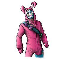 'Rabbit Raider - Fortnite Skin' Poster by SimonPdv Mighty Power Rangers, Creepy Skin, Skin Logo, Skin Drawing, Epic Games Fortnite, Drawing Journal, Game Character Design, Drawing For Kids, Raiders