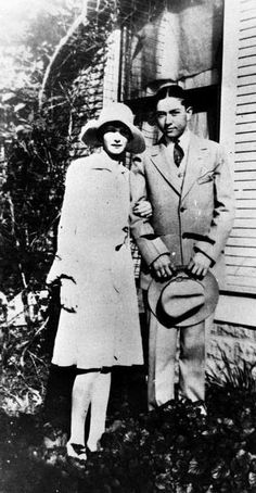Clyde Barrow with his first girlfriend Eleanor