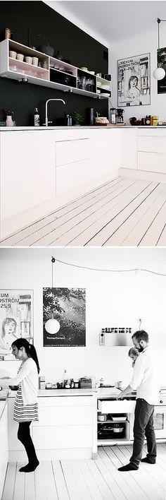 White kitchen floors