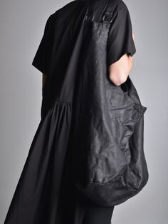 SerienUmerica Oversized Leather Bag & Half Dress