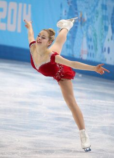 Gracie Gold of the USA performs in the ladies' short program figure skating at the Iceberg Skating Palace during the Winter Olympics in Sochi, Russia, Wednesday, Feb. Get premium, high resolution news photos at Getty Images Gracie Gold, Figure Skating Moves, Figure Skating Dresses, Skate 3, Ice Skaters, Ice Dance, Ice Princess, Sporty Girls, Winter Olympics