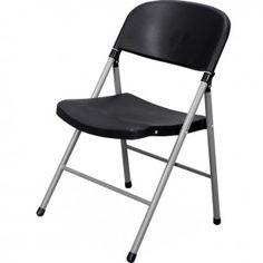 silla plegable plstica negro