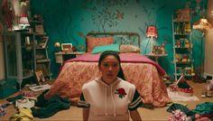 Get interior design inspiration from Lara Jean Song Coveys bedroom in Netflixs To All The Boys Ive Loved Before! Lara Jean, Bedroom Inspo, Bedroom Sets, Girls Bedroom, Bedroom Decor, Bedrooms, Bedroom Fun, Bedroom Wardrobe, Movie Bedroom