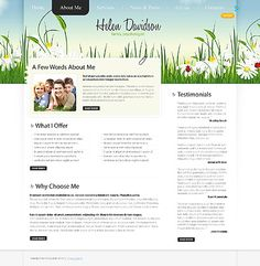 Helen Davidson Website Templates by Delta