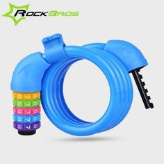ROCKBROS Bike Lock 5 Digit Code Anti-Theft Copper Cable Cycling Bicycle Security Key Locks Mountain Road Bike Accessories M6119