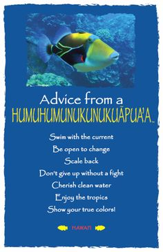 Advice from a Humuhumunukunukuapua'a Frameable Postcard. Your True Nature