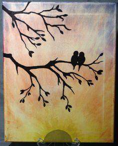 Love Birds Sunset