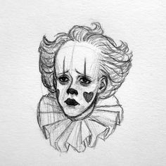 Facial expression study of Pennynice Scary Drawings, Art Drawings Sketches Simple, Dark Art Drawings, Pencil Art Drawings, Creepy Sketches, Hipster Drawings, People Drawings, Fantasy Drawings, Drawing Ideas