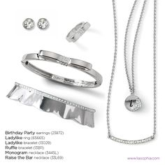 silver...timeless...simply glamorous! Check out these gorgeous items and more at my website: www.liasophia.com/erinpetersen!