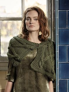 CASSIA from ROWAN Autumn Accessories (ZB181) 14 accessories and garment designs by Marie Wallin for women using Rowan Big Wool Silk.  Design Inspiration ... Inspired by the soft silky touch of Big Wool Silk and essential winter accessories, this collection features many shrugs, cowls, wraps and small garments with a touch of modern elegance | English Yarns
