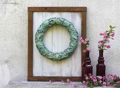 Barokowy wianek z foremki - POZYTYWNIA.pl Diy Wreath, Wreaths, Silicone Molds, Hanukkah, Decoupage, Instagram, Home Decor, Fimo, Flower Headdress