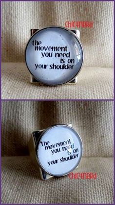 """Anello (cameo 20mm)   Soggetto: The Beatles_ """"The movement you need is on your shoulder"""" Hey Jude"""