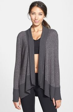 Free shipping and returns on Zella Open Front Cardigan at Nordstrom.com. Solid-hued ribbing frames a comfy marled cardigan cut in a slouchy, cocoon-like shape.