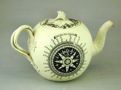 My Antique World: Antique English creamware teapot