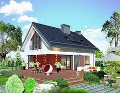 Projekt Domidea 58 mG Design Case, House Plans, Pergola, Outdoor Structures, House Design, Cabin, Architecture, House Styles, Interior