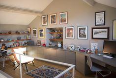 Rénovation espace bureau maison de campagne meuble sur mesure