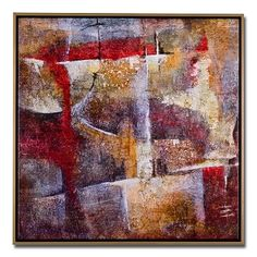 Red Composition Decorative Accents Framed Print - Value City Furniture $99.99  #VCFwishlist