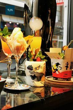 TUYA #signature cocktails 🍸 crew 😊  L'autentico, Ramos de Bayas, Duck n' Roses, Italian Job, Grandson Martini, Asia to go, Golden Legacy, Amer de la vie... Cocktails, Cocktail Drinks, Restaurant Bar, Signature Cocktail, Martini, Asia, Table Decorations, Berries, Craft Cocktails