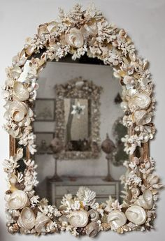 Coral and Shell Mirror