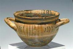 A Greek Geometric Bi-Chrome Pottery Kylix  Circa 8th. century  Artemis Gallery