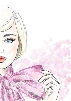 #fashion #concept #illustration #model #makeup #art #skech #blond #painting #digital