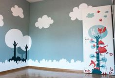 beautiful painted baby room by