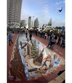 Street painting 3D by Kurt Wenner
