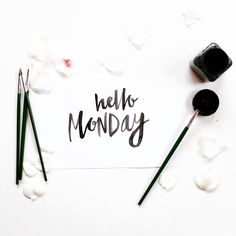 Soon - Say hello to Monday. Ps. Please be nice!  . From a nice type shot by @briarmark __ Featured by @thedailytype #thedailytype Learning stuffs via: www.learntype.today __ by thedailytype